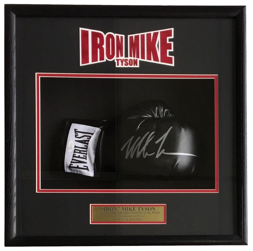Mike Tyson Signed Black Right Hand Everlast Boxing Glove Shadowbox JSA ITP