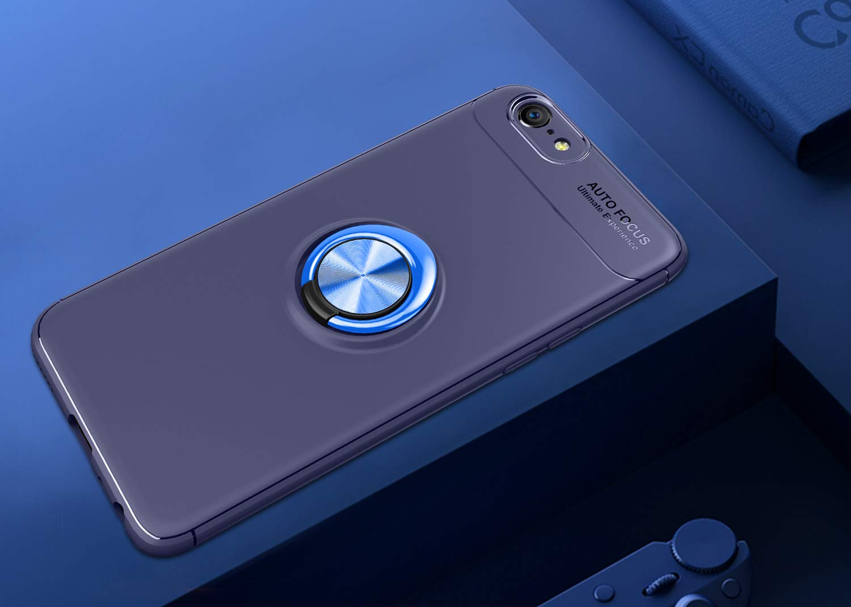 RINOJF Compatibles Funda OPPO F3 Plus Azul,360 Grados Giratorio ...