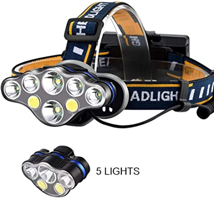 Exterior Noche Sports Xp-E LED Cabeza Linterna Faro Luz Recargable USB