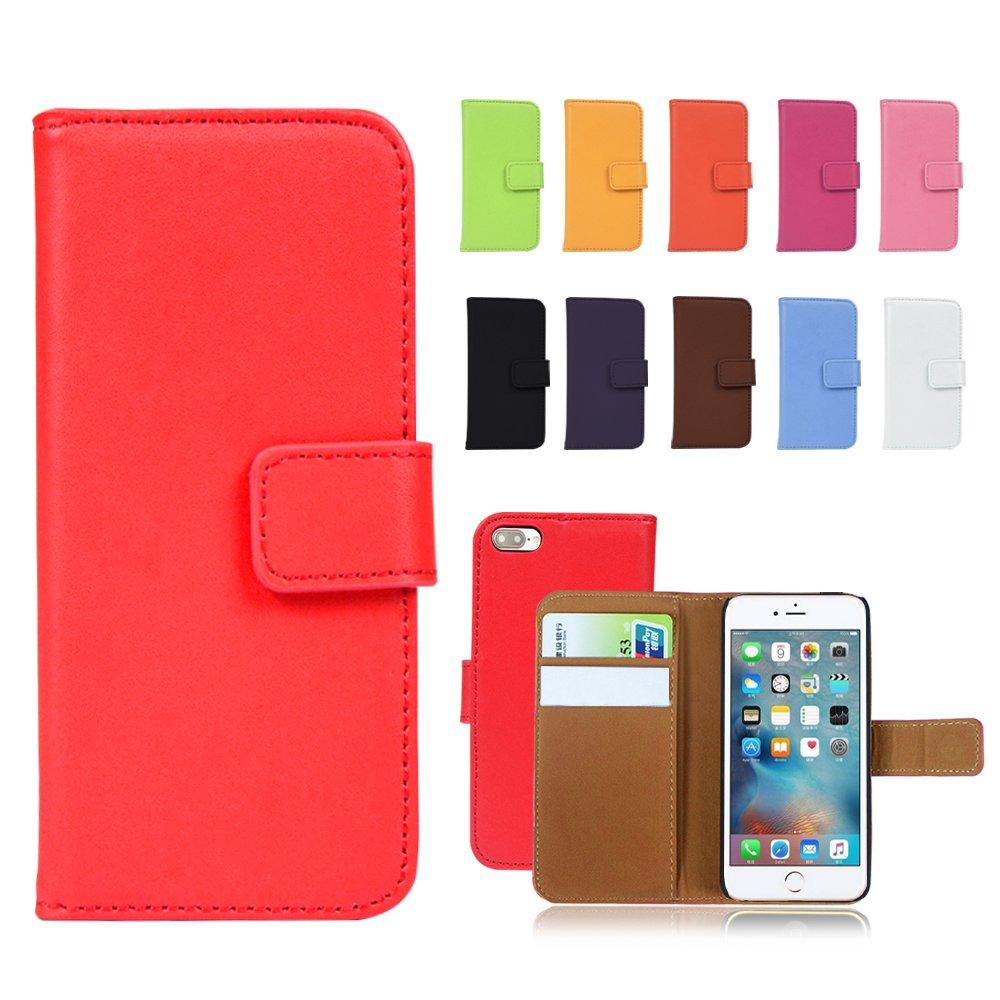 Gamsy IStyle Étui à rabat en cuir véritable avec support et porte-cartes pour Apple iPhone 4/4S, iPhone 5/5S, iPhone 6/6Plus, iPhone 5C Qualité élevée FOLIOCASE-IP