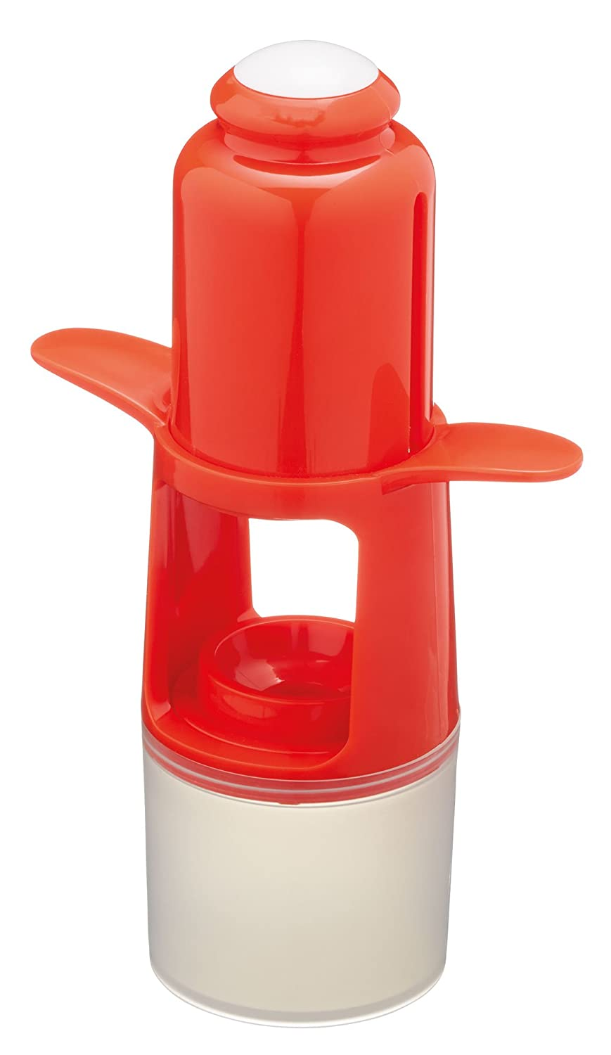 KitchenCraft Healthy Eating 1-Press Cherry Pitter / Olive Stoner – White / Red KCHECP