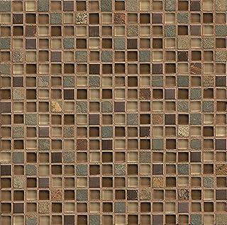 "Bedrosians GLSELM5858-CN""Elume"" Stone Mosaic Tile, 12"" x 12"", Chestnut (B016VWV4SC) | Amazon price tracker / tracking, Amazon price history charts, Amazon price watches, Amazon price drop alerts"