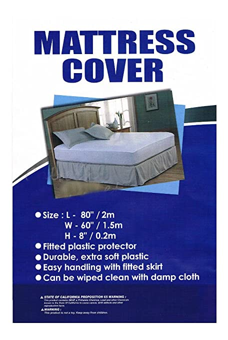 Amazon Com Mattress Cover Single Full Queen Size Fitted Plastic