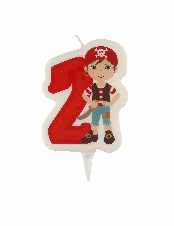 Vela de cumpleaños Pirata Número 2 Talla única