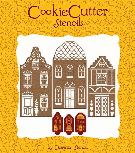Stewart Cookie Cutters Martha - Martha Stewart Townhouse Cookie Set (no cutters) by Designer Stencils