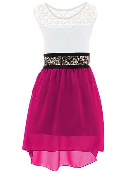 GILLSONZ - Vestido - Sin tirantes - para niña rosa 3/4 años