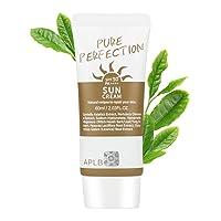 APLB Pure Perfection SunscreenSPF 50+/PA++++ 2.03 fl. Oz (60ml)   Korean Skin Care, Sun Cream, Non-Smudge & Non-Sticky, Kbeauty sunscreen  