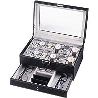 CRITIRON Caja para Relojes, Joyas e Gafas, Organizador
