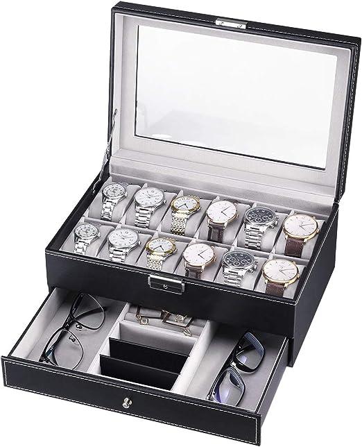 CRITIRON Caja para Relojes, Joyas e Gafas, Organizador de Relojes ...