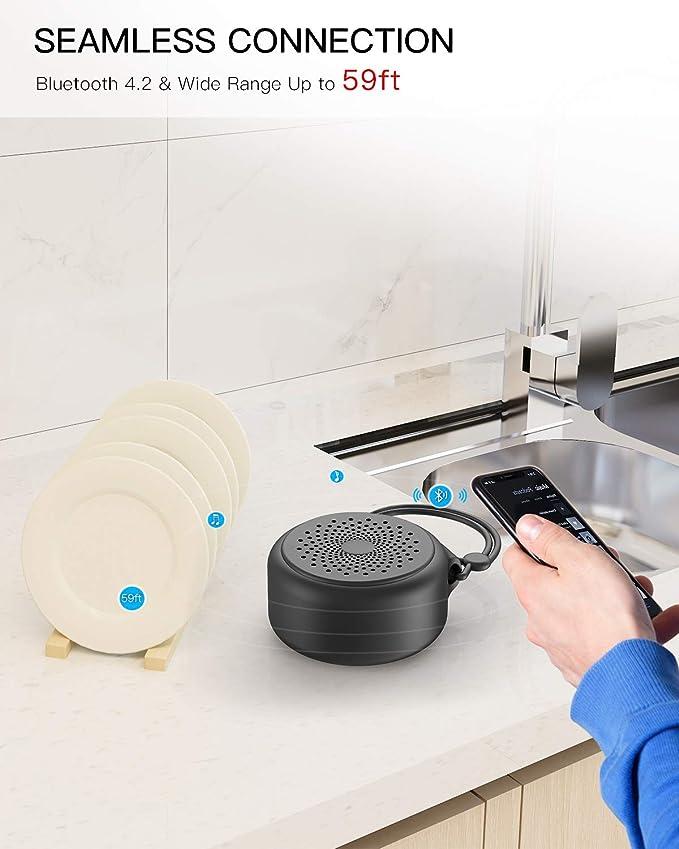 Amazon.com: OJA Altavoz Bluetooth a prueba de agua, mini ...
