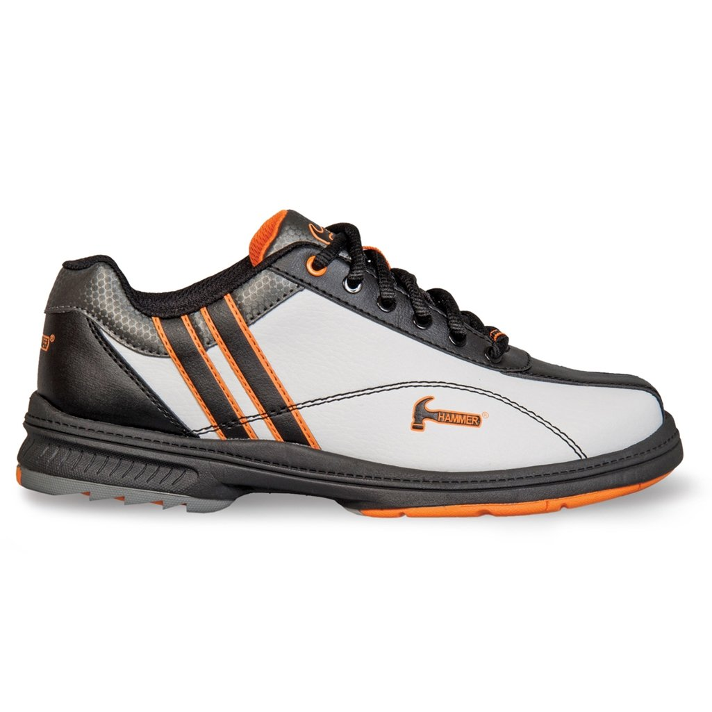 KR Strikeforce Women's Hammer Vixen Wide Width Bowling Shoes, White/Black/Orange, Size 7.5