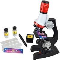 Jzhen Microscope Enfant, 1200x, 400x, 100x, Microscope Set pour Kids l'éducation Précoce