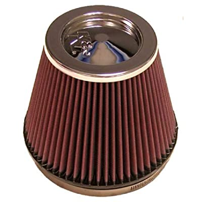 K&N Universal Clamp-On Air Filter: High Performance, Premium, Washable, Replacement Engine Filter: Flange Diameter: 6 In, Filter Height: 6 In, Flange Length: 1 In, Shape: Round Tapered, RF-1036: Automotive