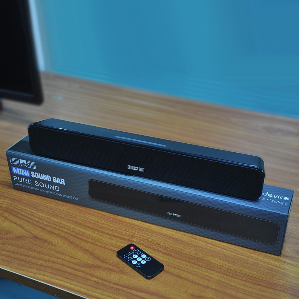 Sound Bar 18-Inch Bluetooth 4.0 Speakers Wireless Mini Soundbars ...