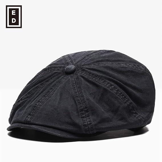 sdssup Gorra Masculina Boina Sombrero Negro Ajustable: Amazon.es ...
