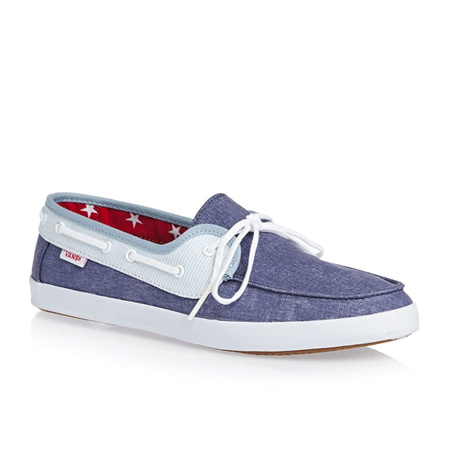 Vans Chauffette Womens Slip On Shoes UK 5 Americana STV Navy Forget Me Not