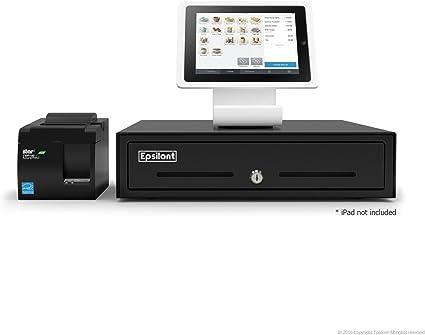 Paquete TPV Square de Epsilont, con soporte para iPad 4 A-SKU-0021, impresora USB Star Micronics TSP143IIU 39464011 y caja registradora Epsilont: Amazon.es: Coche y moto