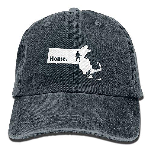 Colonial Costumes Massachusetts (Massachusetts Colonial Patriot Home Unisex Adjustable Cotton Denim Hat Washed Retro Gym Hat FS&DMhcap Cap Hat)