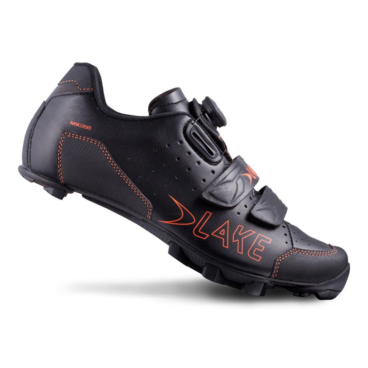 湖Cycling 2016メンズmx228マウンテンサイクリング靴 – ブラック/オレンジ 39 ブラック/オレンジ B06VVHQ7Y9