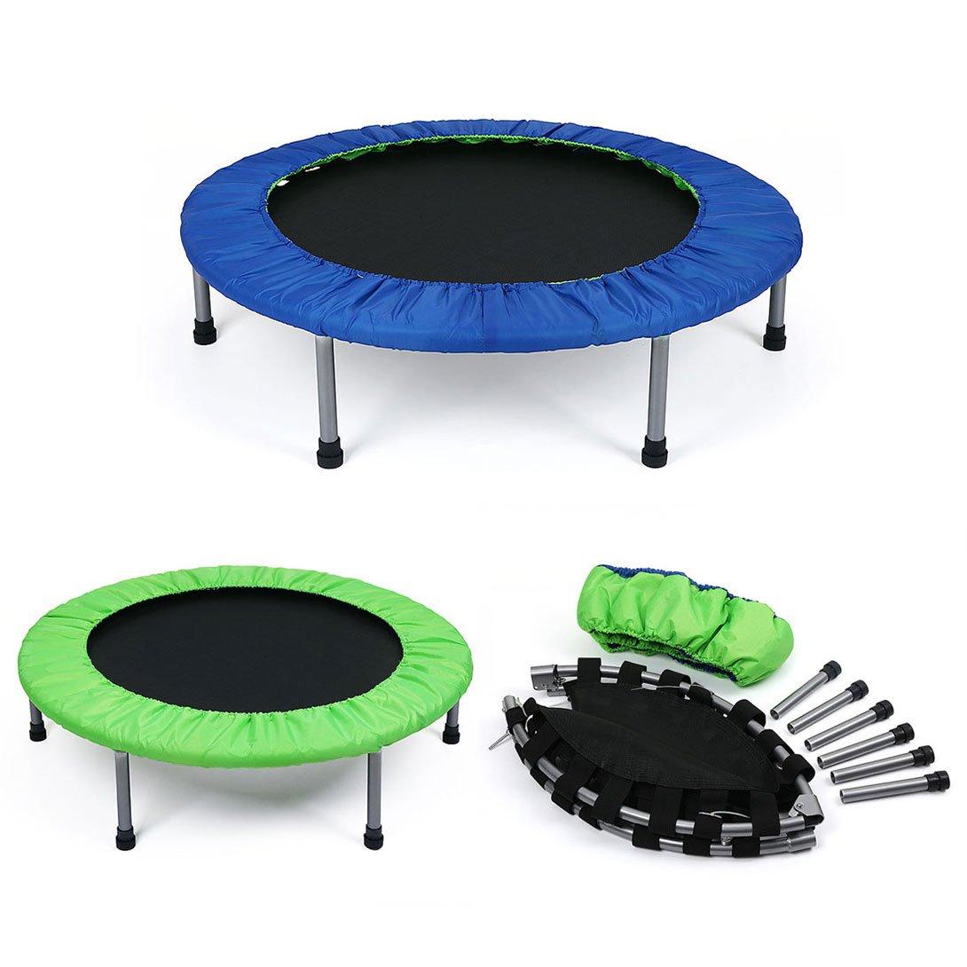Fitness Jumping Trampolin Indoortrampolin Gartentrampolinbelastbar bis 90 kg, 96CM Klappbar für Kinder und Erwachsene