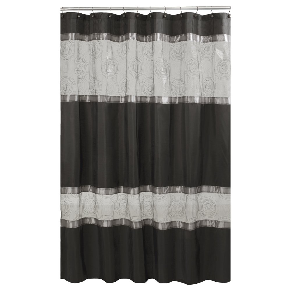 Amazon.com: Maytex Marco Fabric Shower Curtain, Black: Home & Kitchen