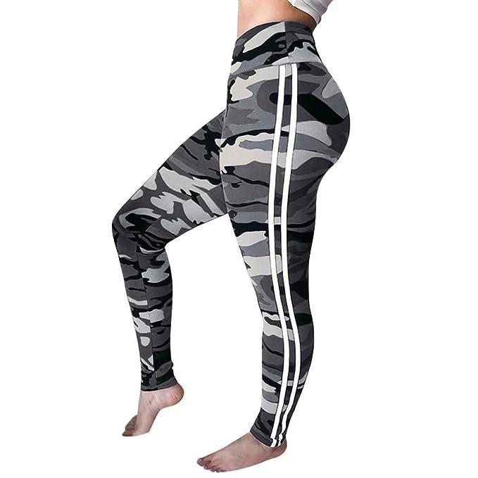 GWshop Yoga Training Tights Sports Pants, Women Camouflage ...
