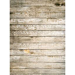 Photography Weathered Faux Wood Floor Drop Background Mat CF588 Rubber Backing, 4\'x5\' High Quality Printing, Roll up for Easy Storage Photo Prop Carpet Mat (Can Be Used for Decorating Home Also)