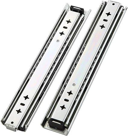 Glissi/ère de tiroir pleine extension /à usage intensif 550 mm 100 kg Capacit/é portante Tiroir Rail de tiroir AOLISHENG 1 paire 2 pi/èces