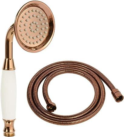 Luxury Brass/&Ceramics Rainfall HandHeld Shower Head  Retro style Gold Finish