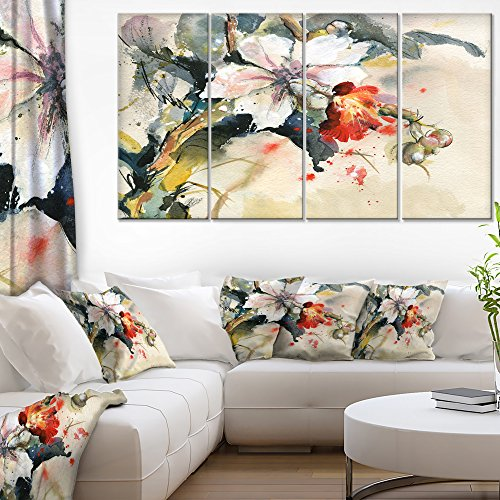 Designart Orchid in Bloom Floral on Canvas - Orchid wall decor