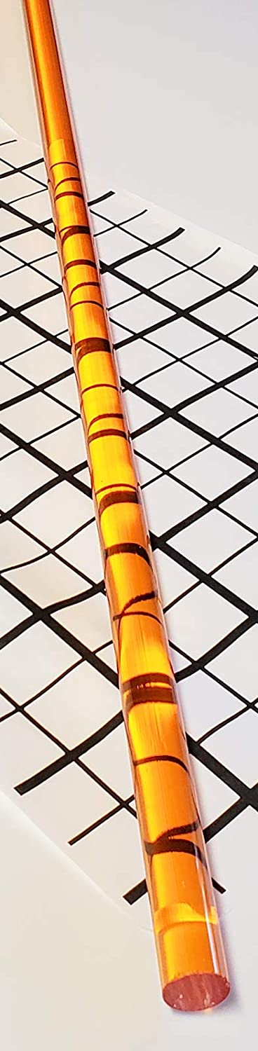 1 Pc 1//2 x 24 Long Clear Amber Translucent Acrylic Plexiglass Rod 12.7mm .50 Diameter