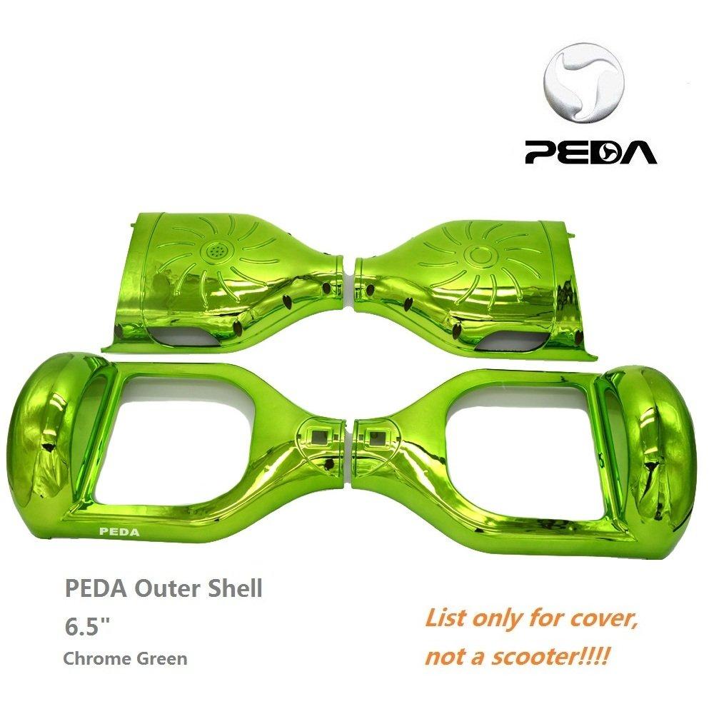 peda Chrome à deux roues d'équilibre 16,5cm Smart Étui Hoverboard DIY Coque extérieure 5cm Smart Étui Hoverboard DIY Coque extérieure vert Vert 6.5 inch PEDA MOTOR Case-N1-Chrome