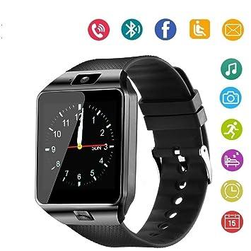 Smart Watch Bluetooth Montre connectée Téléphone Port Carte SIM Port SD avec Caméra pour Android iOS