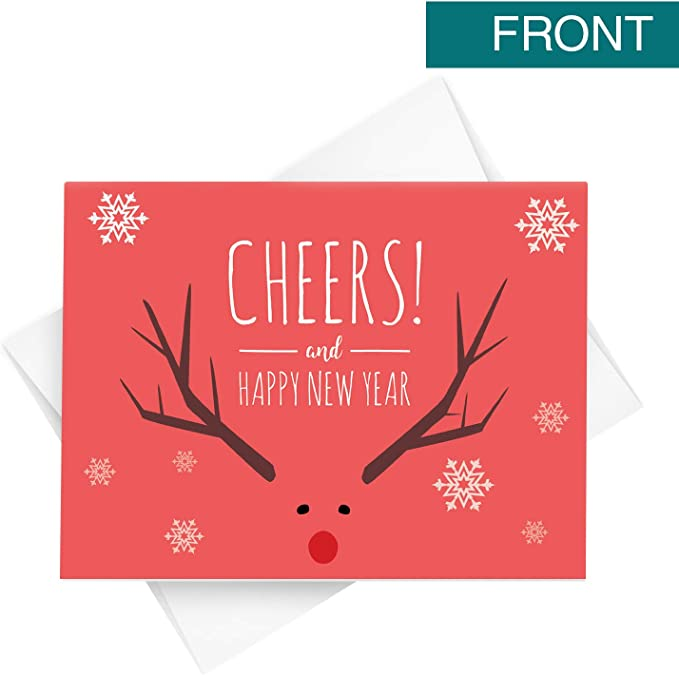 amazon com 2021 happy new year cards holiday greetings fold over envelopes for christmas and new year s gifts and presents 25 folding cards and 25 envelopes per pack 4 25 x 5 5 red cheers office products 2021 happy new year cards holiday greetings fold over envelopes for christmas and new year s gifts and presents 25 folding cards and 25