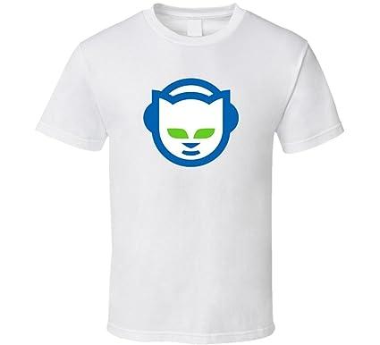 Amazon.com: Lum-tshirt White Napster Fan Open Internet Classic Tech ...