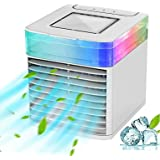 SDFDS Portable Air Conditioner Fan, 7 Color Lights Air Conditioner Blast Mini Air Cooler, AC for Bedroom