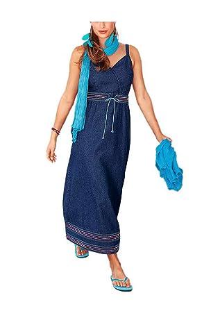 fb722a5940b0 Your Life your Fashion Damen-Kleid Jeanskleid mit Gürtel Blau Größe 25 (50)