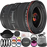 Canon EF 17-40mm f/4L USM Lens - International Version (No Warranty) 10PC Accessory Bundle. Includes 3PC Filter Kit (UV-CPL-FLD) + 4PC Macro Filter Set (+1,+2,+4,+10) + 6PC Graduated Filter Kit + Variable ND Filter + Cleaning Cloth