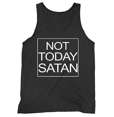 8cc085853 Amazon.com: Not Today Satan Jersey Tank Top: Clothing
