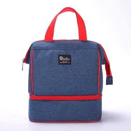 Bolsa Aislable Plegable,Portable Insulated Lunch Bag, Thick Ice Pack Picnic Bag,Blue,para Adultos Bolsa de Almuerzo para niños Mujeres Hombres: Amazon.es: Hogar