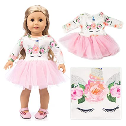 7f73f45a68 American Girl Doll Unicorn Clothes Outfit Pajamas 18 Inch Unicorn American Girl  Doll Clothes and Accessories
