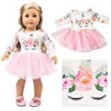 """American Girls Doll Unicorn Clothes Outfit Pajamas 18 Inch Unicorn American Girls Doll Clothes and Accessories for 18"""" Americ"""