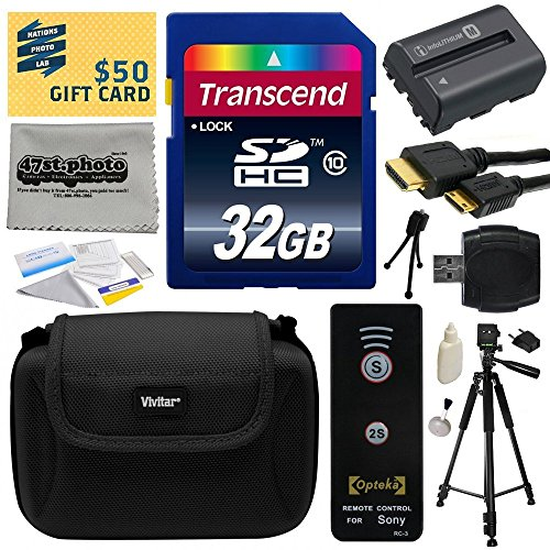 Must Have Accessories Bundle Kit for Sony Alpha A230, A290, A330, A380, A390 DSLR Digital Camera includes 16GB Class 10 SDHC Memory Card + Replacement