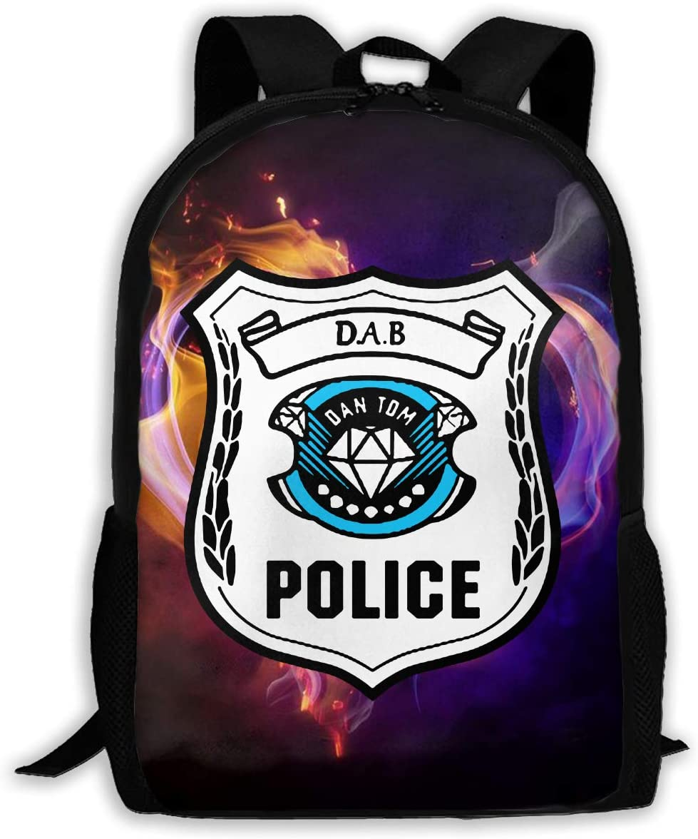 Dab Dan Tdm Fashion Canvas 3D Print Hiking Backpack Casual Shoulder Backpack
