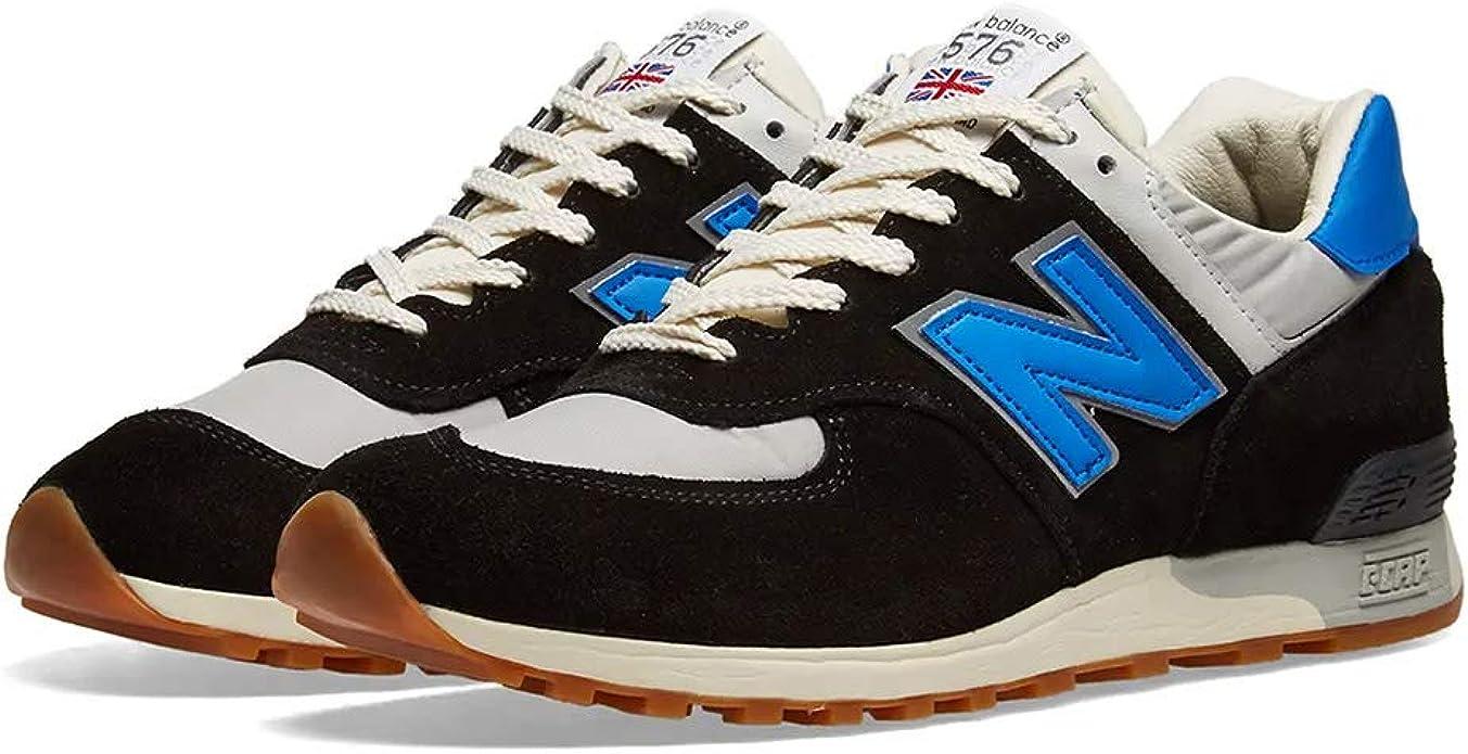 New Balance M 576 Sneakers Damen Herren Unisex Made in England Schwarz Grau Blau