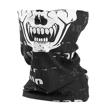 c405822b9509 rabbitgoo Multifonction Bandana de Squelette Foulard pour Sport Tour de Cou  Masque de Protection Demi-