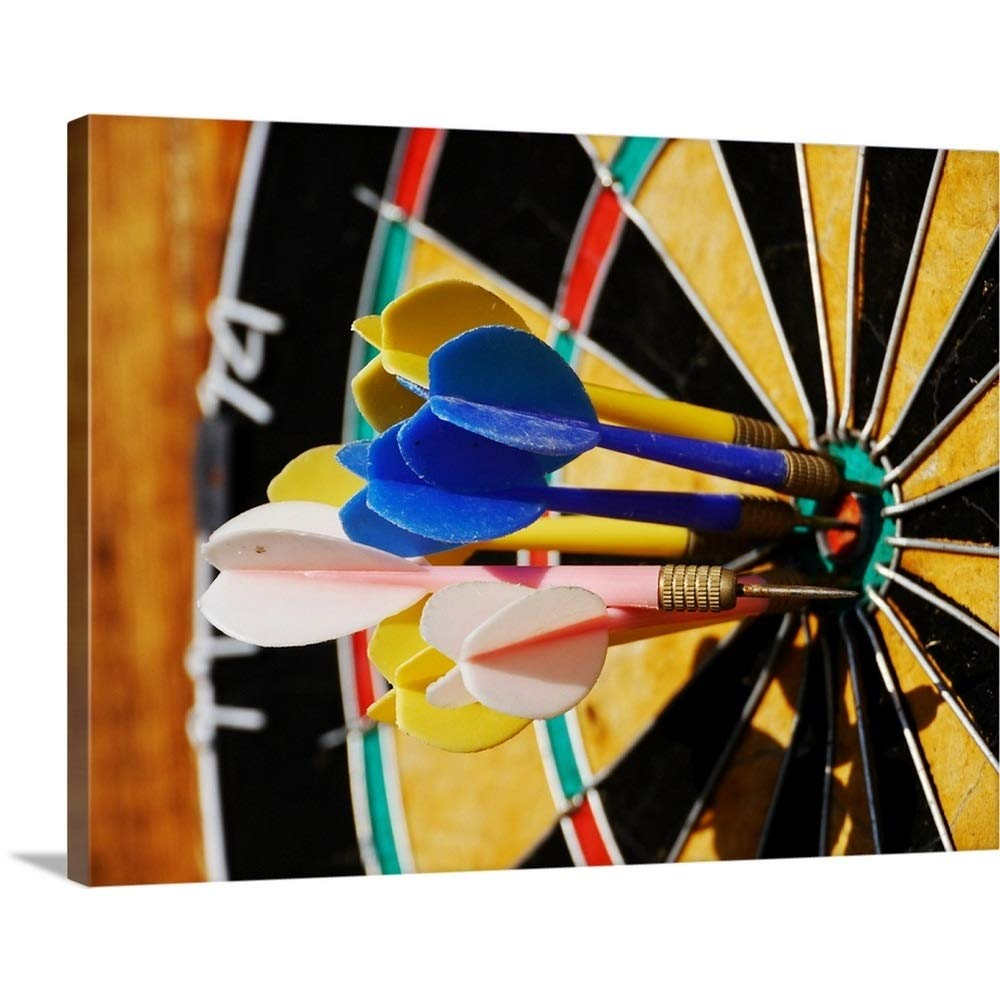 GREAT BIGキャンバスギャラリー‐ Dartboard withダーツでBulls Eye。 48