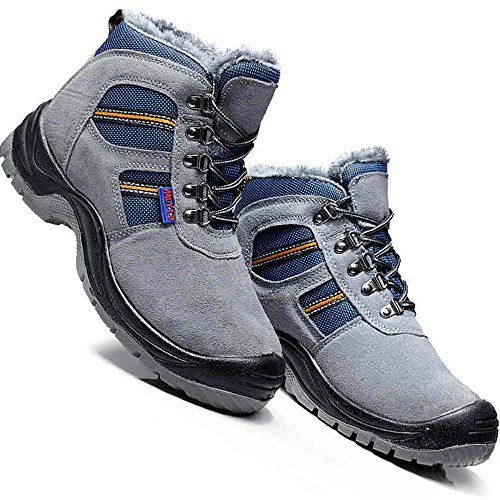 amp;construction shoes steel industrial work puncture Gray unisex 28 shoes safety toe shoes proof wHXxqnCBRC