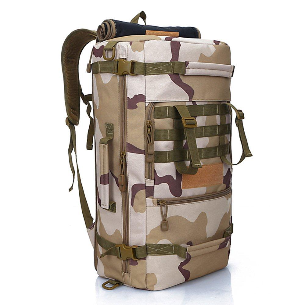 旅行バックパックカジュアルバックパック便利な大容量50Lショルダーバックパックデイパック用アウトドアキャンプスキーランニングハイキングサイクリング メンズバックパック (色 : Camouflage) B07RW8YGQQ Camouflage