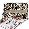 BMC Womens Ultra Thin Faux Leather Mixed Design Animal Print Clutch Handbag